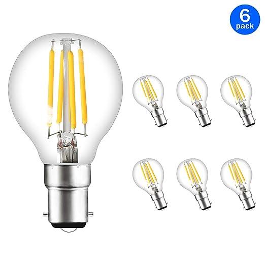 Svater P45 B15 - Bombillas LED de bola de golf, 4 W, bombillas SES