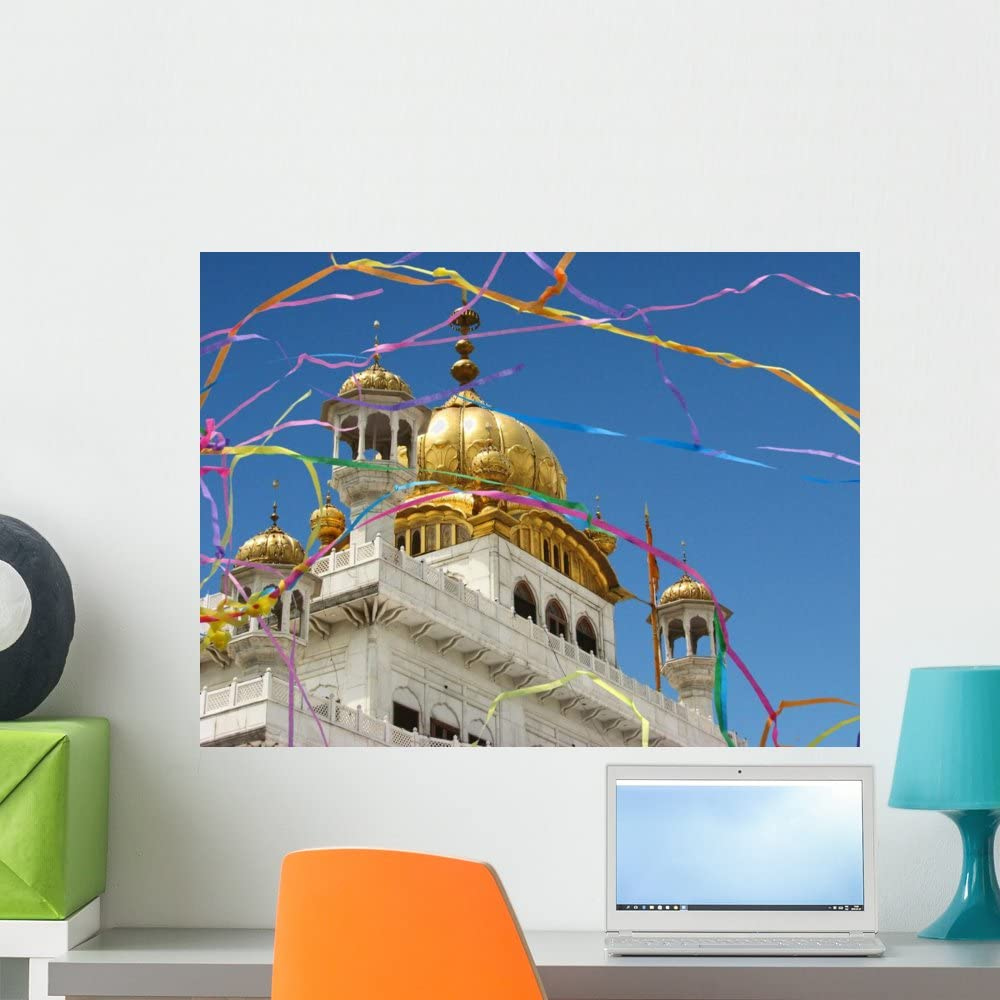 Amazon Com Wallmonkeys Wm106682 India Amritsar Golden Temple Peel And Stick Wall Decals 24 In W X 18 In H Medium Home Kitchen