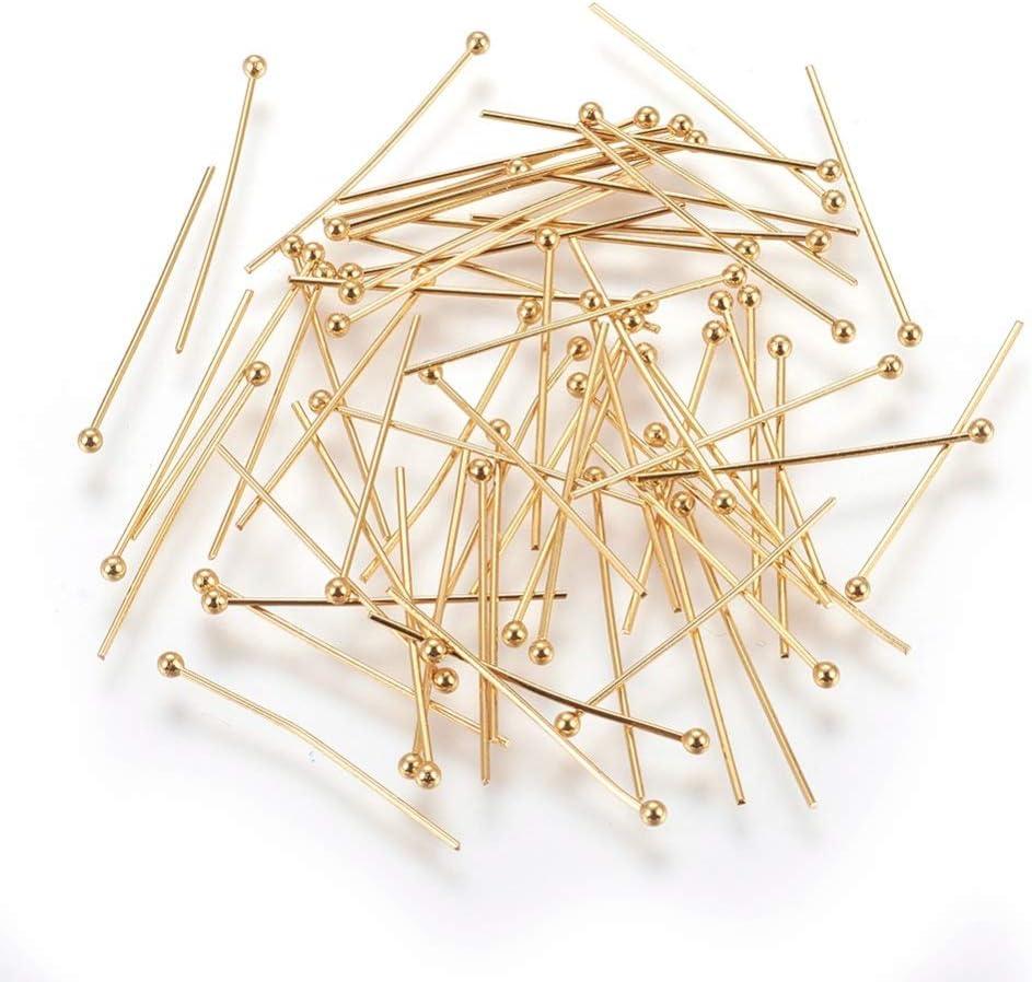 manualidades Lote de 200 alfileres de cabeza de bola para bisuter/ía UR URLIFEHALL tama/ño 25 mm