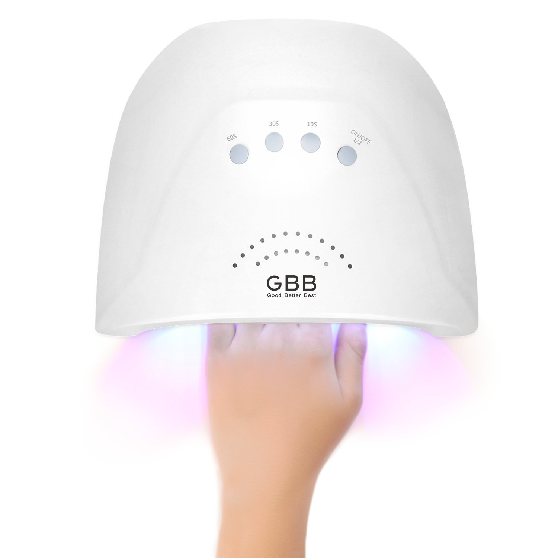 GBB Nagel Lampe,24W/48W UV Nageltrockner LED Nail Trockner mit Weiß ...
