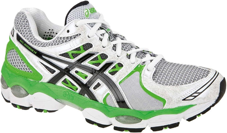 ASICS Gel-Nimbus 14 2E Zapatilla de Running Caballero, Plata/Negro/Verde, 40: Amazon.es: Zapatos y complementos
