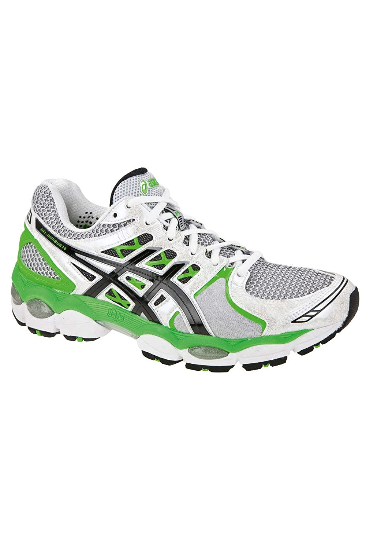 Asics Gel Nimbus 14 Men's Running Shoes White Green