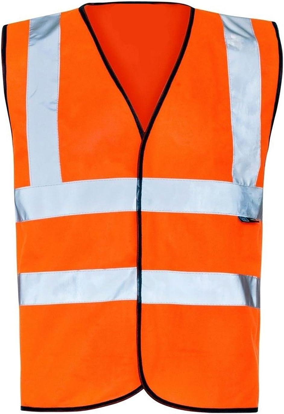 My Choice Stuff Adults Zip Fastening Hi Visibility Sleeveless Vest Mens Sportswear Supplies Vest Small-4XLarge