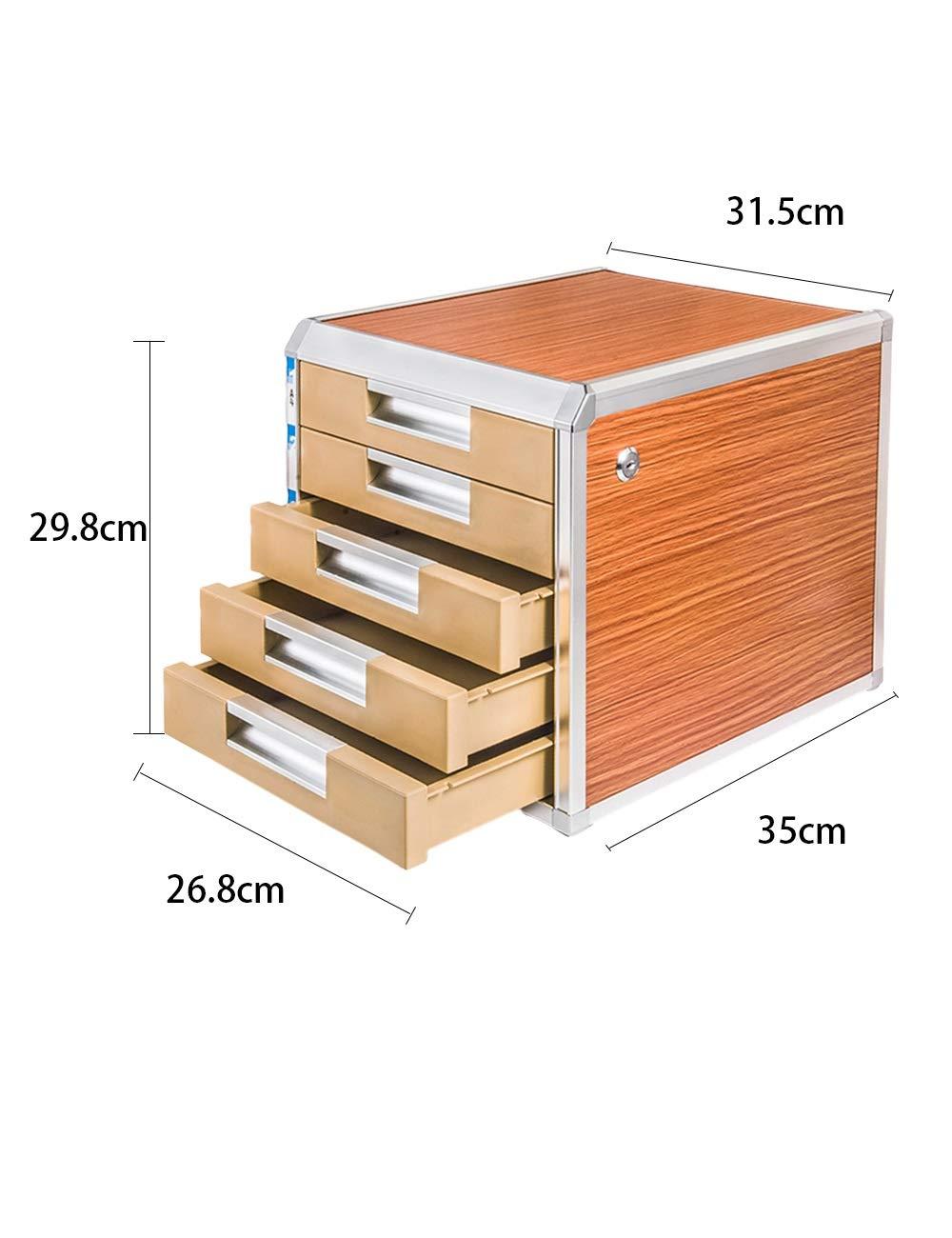File Cabinet Family Desk Decoration Storage Box 5th Floor Aluminum Alloy + Wood Board + Plastic Desk Organizer Filing cabinets
