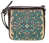 Montana West Embroidered Collection Boot Scroll Crossbody Bag