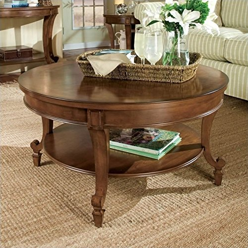 (Magnussen Aidan Wood Round Cocktail Table)