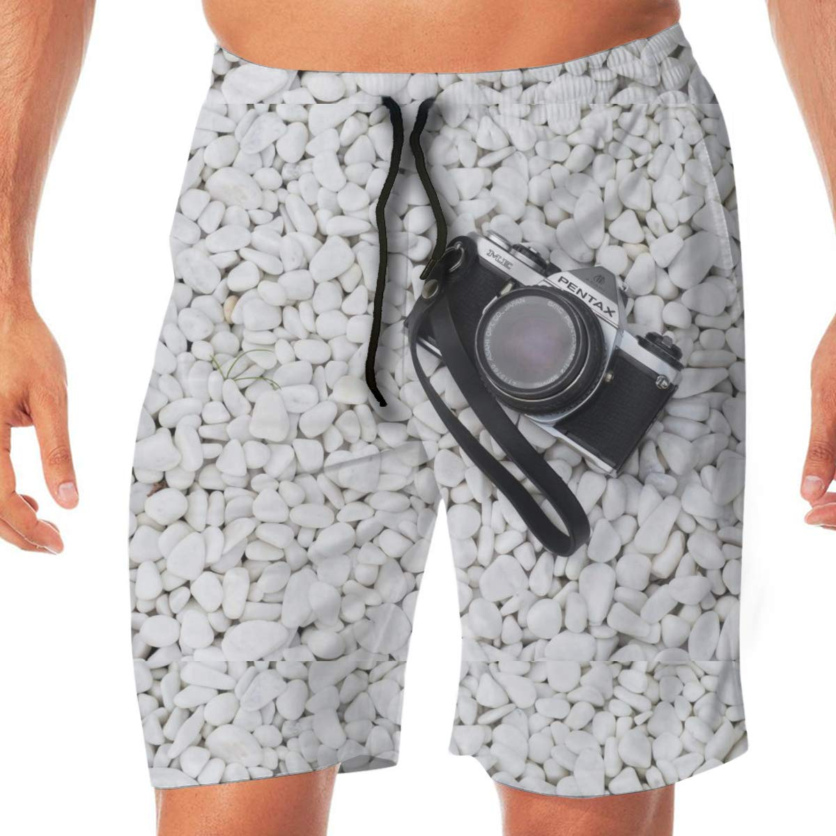 XL L Camera Beach Trunks Mens 3D Printed Beach Board Shorts with Pockets M XXL