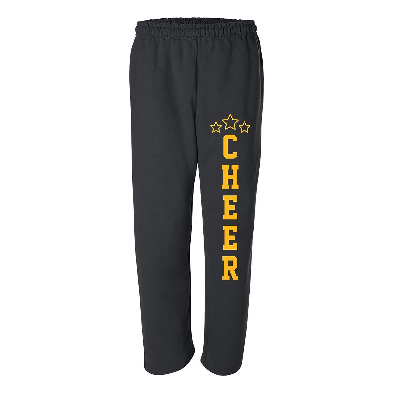 UGP Campus Apparel Cheer Stars Cheerleading Squad Unisex Open-Bottom Sweatpants