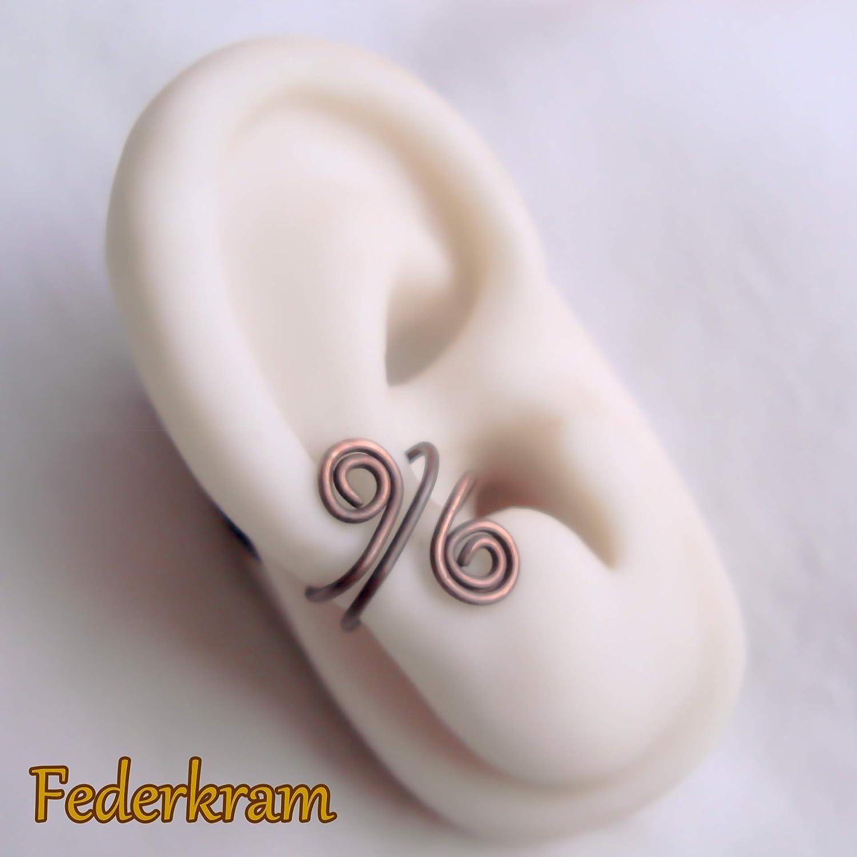 Ohrschmeichler Kupfer Ohrschmuck earcuff Ohrklemme Ohrclip ohne Piercing Loch