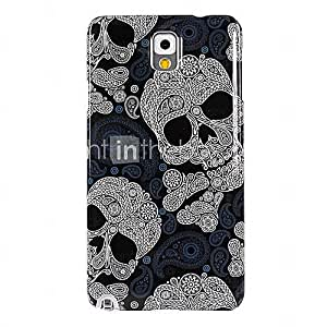 Lace Skulls Pattern Transparent Frame Hard Case for Samsung Galaxy Note 3 N9000