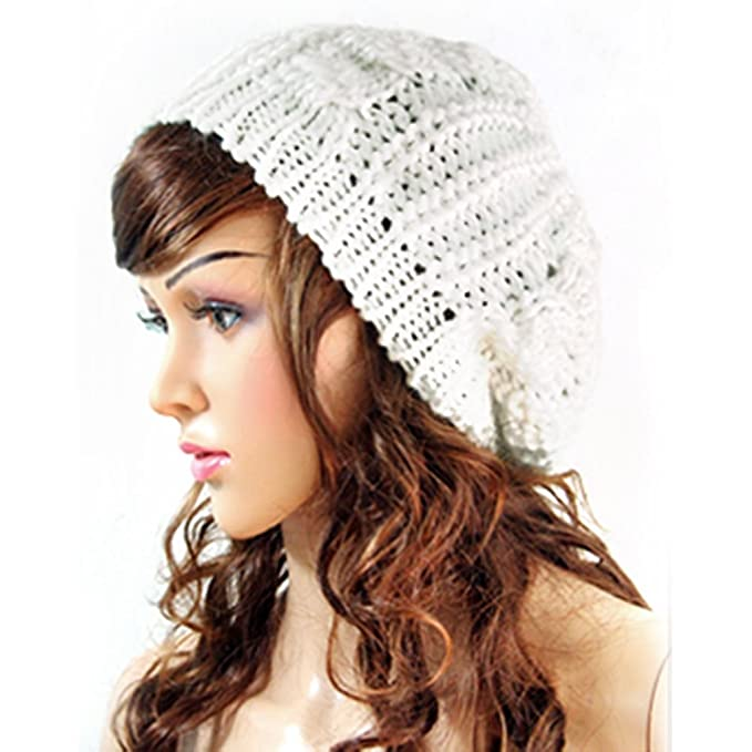 285cc908938 Funoc Baggy Beret Slouch Knit Hat Braided Beanie Hat Ski Cap for Women  Ladies  Amazon.co.uk  Clothing