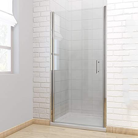 760mm Frameless Pivot Shower Door Enclosure 6mm Safety Glass