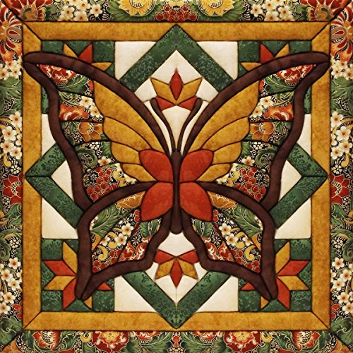 Fall Butterfly Quilt Magic Kit-12x12 No Sew Quilt Kits