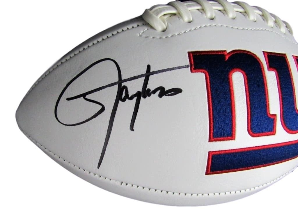 Lawrence Taylor New York Giants Signed/Autographed Logo Football JSA 129304