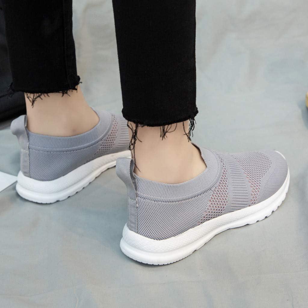 Zapatillas Deportivas de Mujer Running Verano 2020 PAOLIAN Zapatillas Mujer Deporte Fitness sin Cordones Zapatos de Mujer Caminar Vestir C/ómodos Sneaker Ligero Transpirable