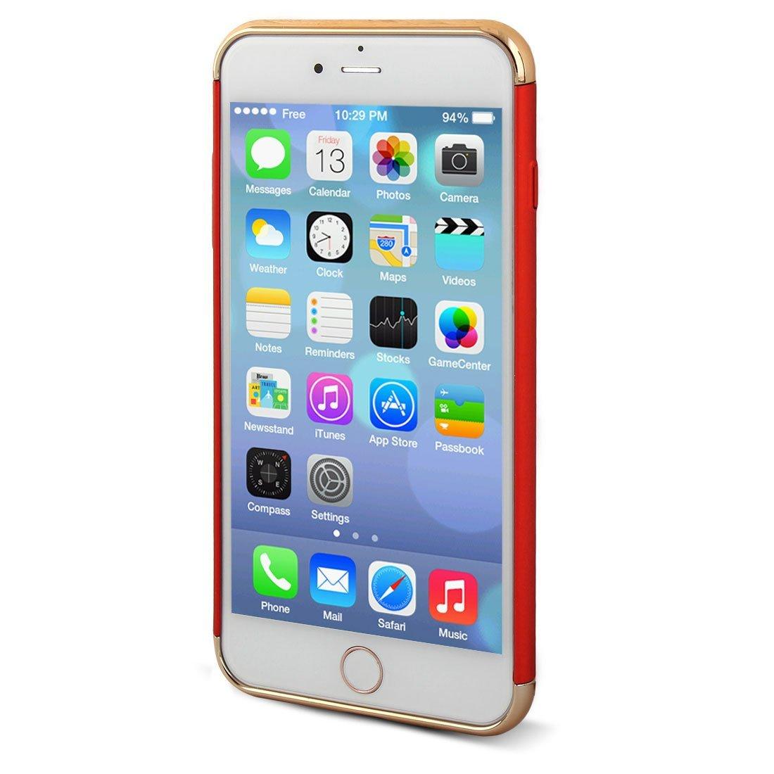 Amazon.com: eDealMax plástico resistente del rasguño del Protector de Shell 3 en 1 caja del teléfono de la cubierta roja Para el iPhone 7 Plus: Electronics