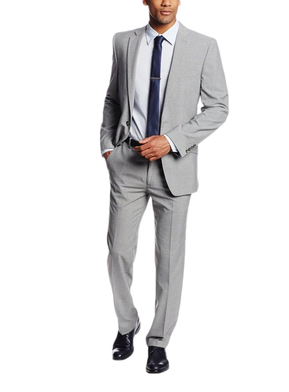 Love Dress Men's Heather Slim-Fit Two-Button Side-Vent Suit Separate Coat 5XL