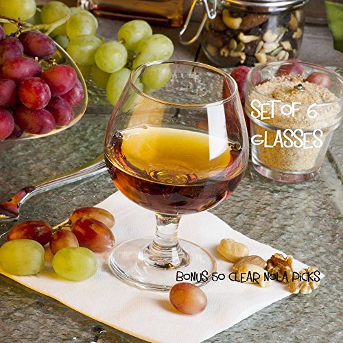 11.5 oz Brandy Glass Libbey 3705 Embassy Snifter or Cocktail Set of 6 by Libbey