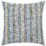 DECOMALL Super Soft Geometric Modern Contemporary Mosaic Decorative Square Floor Pillow Cushion Cover, Multicolor, 26x26 in
