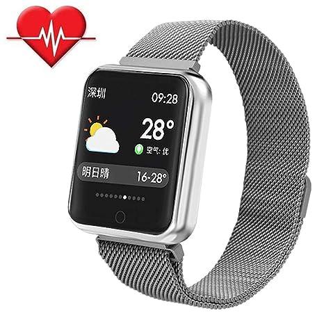TechCode Smartwatch Impermeable, Reloj Fitness Tracker con Monitor de Ritmo cardíaco IP68 Monitor Impermeable del sueño Llamada por SMS Recordatorio ...