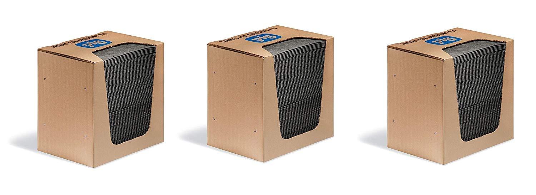 New Pig Mat Pads in Dispenser Box -Absorbent Mats - 12 Ounce Absorbency - 13'' x 10'' - MAT251 (3 X Pack of 100) by New Pig Corporation