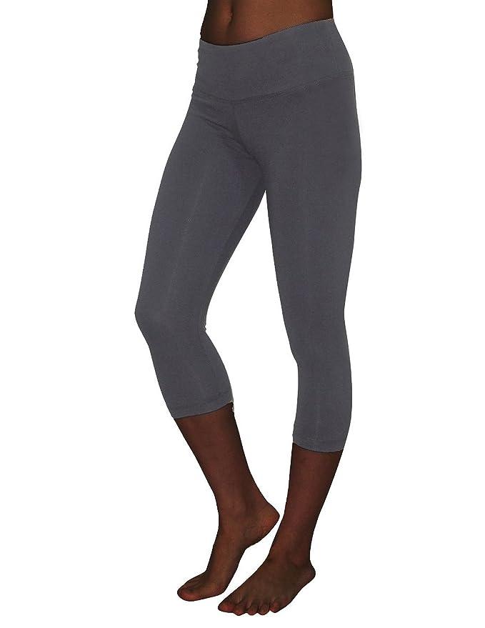 4507f848e6 Amazon.com: Balance Collection (By Marika) Womens Leggings / Yoga Capri  Pants Medium Grey: Clothing
