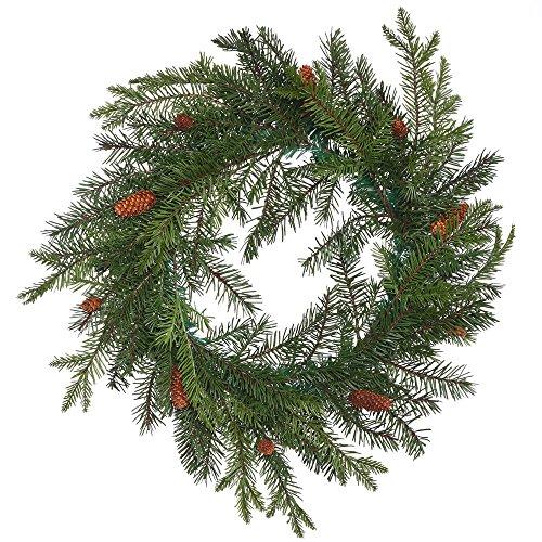 Vickerman Unlit Douglas Fir Artificial Wreath Artificial Pine Cones, 23