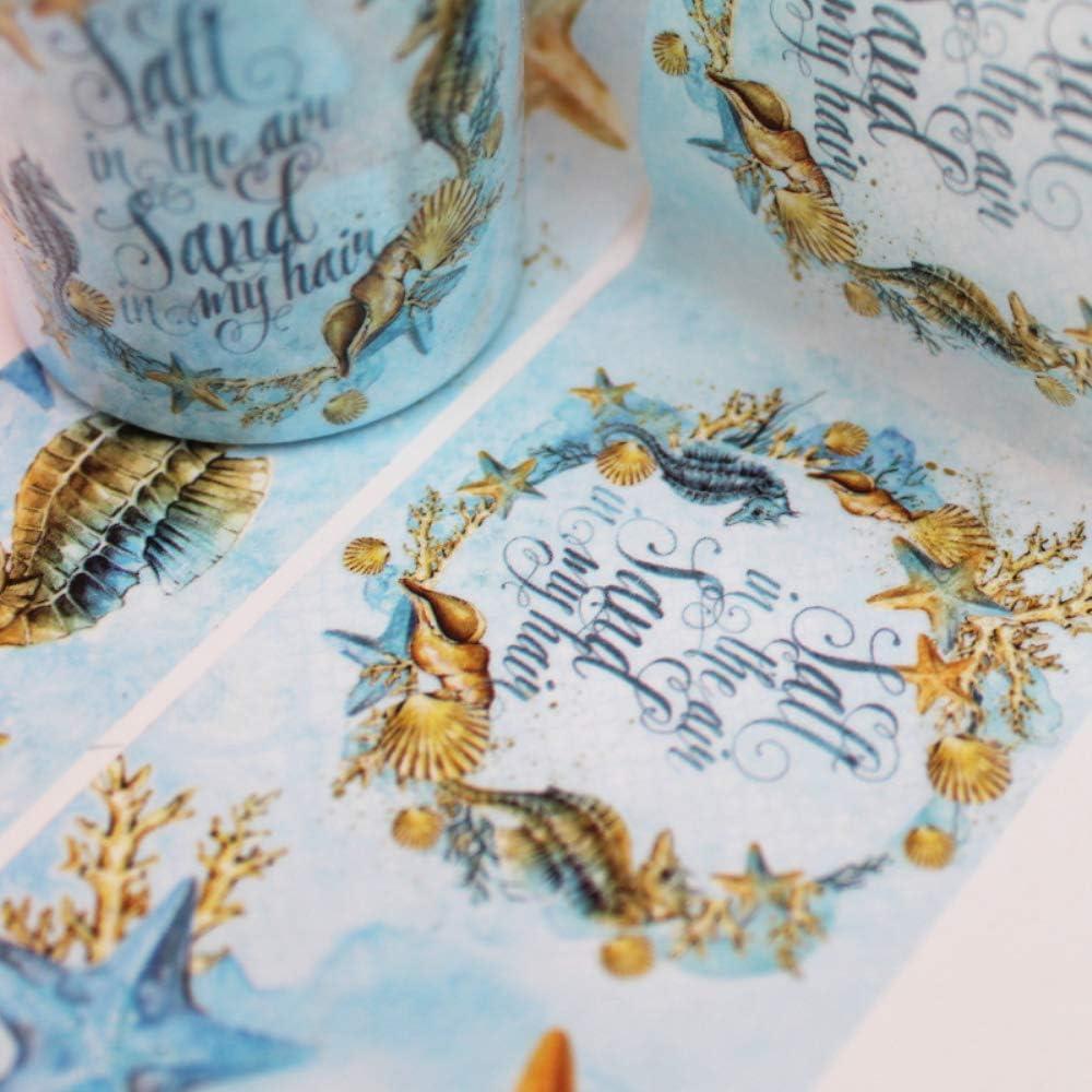 1 rouleaux de ruban Washi en li/ège Bricolage Artisanat Arts Journal Planificateurs Emballage cadeau Scrapbooking Ensemble de ruban auto-adh/ésif D/écoration de journal