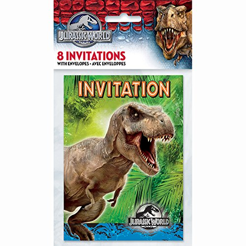 Jurassic World Party Invitations, 8ct ()