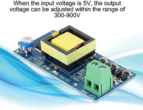 Boost Converter Module 5-12V a 300-1200V DC-DC Boost Converter con Caja de acrílico, Boost Output Module Boost Step-Up convertidor de módulo de Fuente de alimentación con Caja de acrílico: Amazon.es: Electrónica