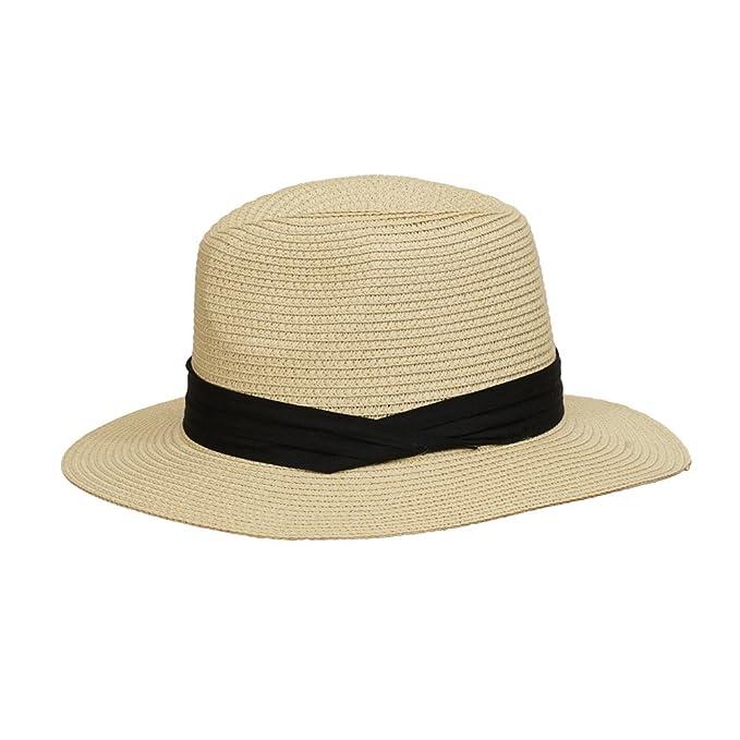 23eafb4ca91dc0 Paladoo Womens Floppy Summer Sun Hat Beach Cap Wide Brim Straw Hats 2-Beige
