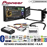Volunteer Audio Pioneer AVH-601EX Double Din Radio Install Kit with CD/DVD Player Bluetooth USB/AUX Fits 2003-2005 Chevrolet Blazer, 2003-2006 Silverado, Suburban (Standard Bose)
