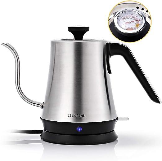 Wasserkocher Kaffeekessel 2200W elektrischer Wasserkessel Temperature...