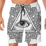 Haixia Men Lightweight Boardshorts Eye Vintage All Seeing Eye Tattoo Symbol Wi