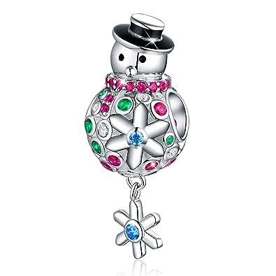Pandora Charms Weihnachten.Forever Queen Weihnachten Schneemann Charm Fur Pandora Armband 925 Sterling Silber Charm Bead Fur Schlangenkette Anhanger Fur Halskette Fq0042