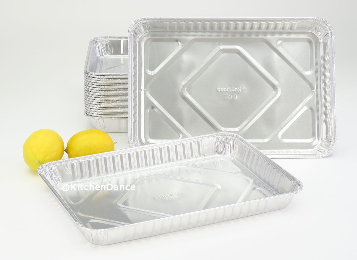 Handi-Foil Aluminum 1/4 Size Sheet Cake Pan, 100 units by Handi-Foil (Image #1)