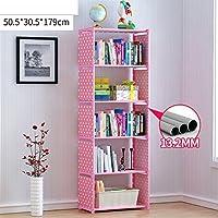 JX&BOOS Bookshelf,Simple bookcase dormitory books toy storage rack free combination simple creativity children-J 51x31x179cm(20x12x70)