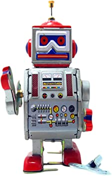 M&A JUQUETE ROBOT RETRO ROJO: Amazon.es: Juguetes y juegos
