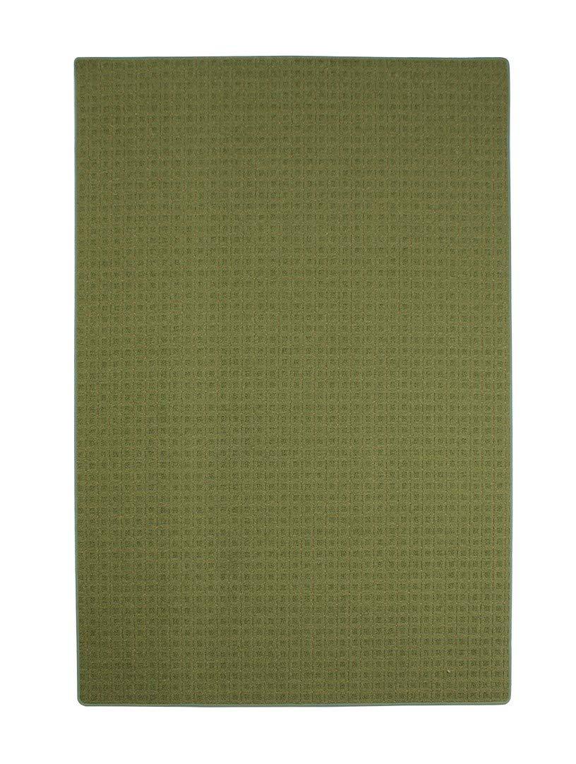Havatex Schlingen Teppich Cambridge - Farbe wählbar - Geprüfte Qualität: schadstoffgeprüft pflegeleicht robust | für Wohnzimmer Schlafzimmer Flure Büros, Farbe:Grün, Größe:180 x 200 cm
