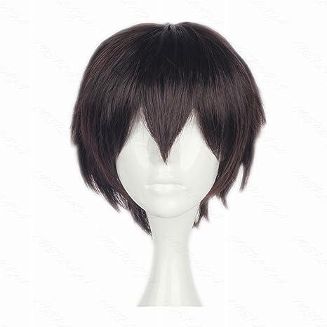 COSPLAZA cosplay peluca BUNGO Desviación de perros osamu dazai corto marrón Boy Anime pelo
