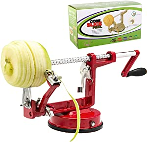 MingTao Apple/Potato/pear Peeler Corer, Durable Heavy Duty Die Cast Magnesium Alloy Multifunction Peelers