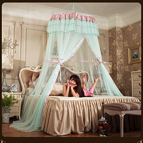 European dome ceiling princess mosquito net bed canopy, Hanging Court Round Double mosquito curtain-C Queen1 by DE&QW