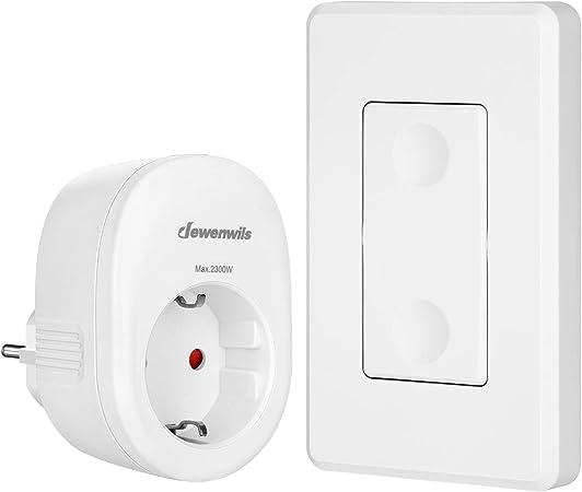 DEWENWILS - Juego de enchufes inalámbricos con interruptor de pared, interruptor de encendido y ...