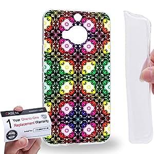 Case88 [HTC ONE M9+ (PLUS)] Gel TPU Carcasa/Funda & Tarjeta de garantía - Art Fashion Visual Art Effect 31 Art1047
