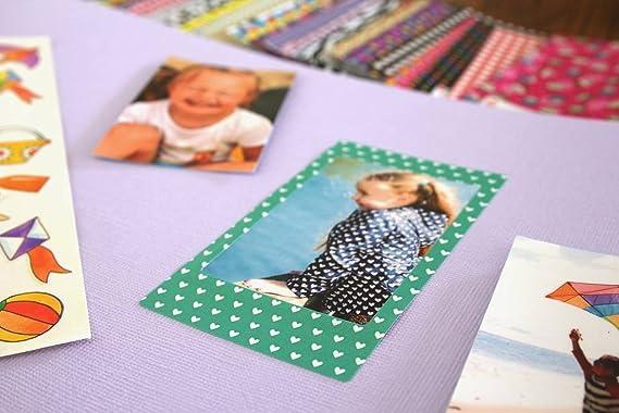 KODAK: Pegatinas de bebé Coloridas y Decorativas para Papel fotográfico de 2x3 (Printomatic, Mini Shot, Mini 2). 3 Hojas únicas.
