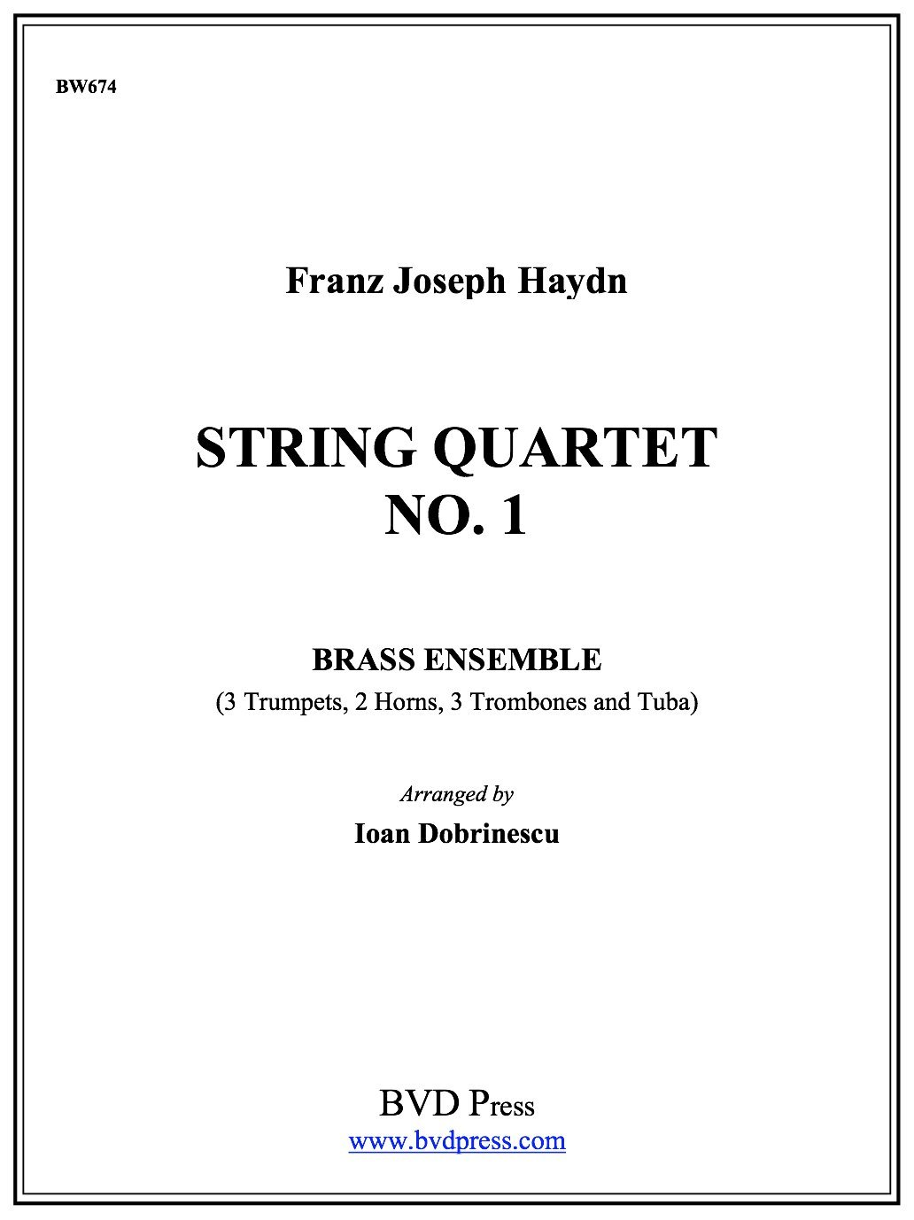 Download String Quartet in Bb, Op. 1, No. 1 pdf