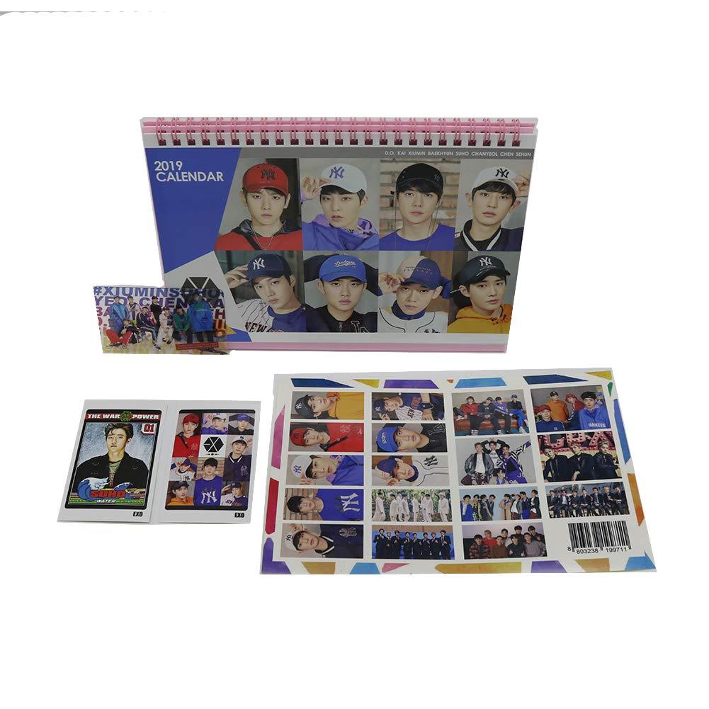 Calendario da tavolo degli Exo Kpop, con immagini extra e adesivi (lingua italiana non garantita) Idolgoods