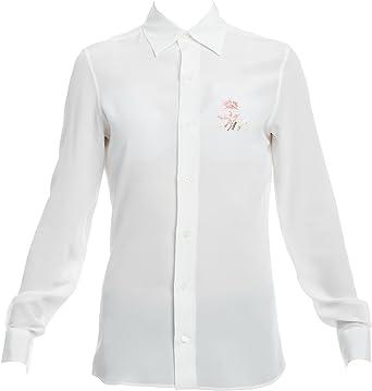 Loewe Mujer S2179291ga2100 Blanco Seda Camisa: Amazon.es ...