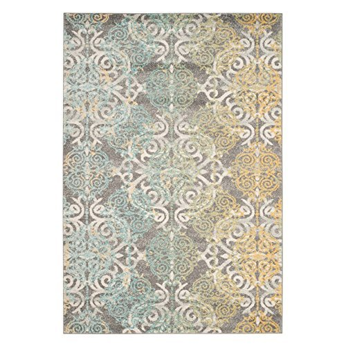 Cheap Safavieh Evoke Collection EVK230D Vintage Medallion Damask Grey and Ivory Area Rug (11′ x 15′)