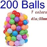 Deyan 100 / 200pcs bebé Colorido plástico Suave Piscina de Agua Ocean Wave Ball para niños Bolas de Juguete Divertido